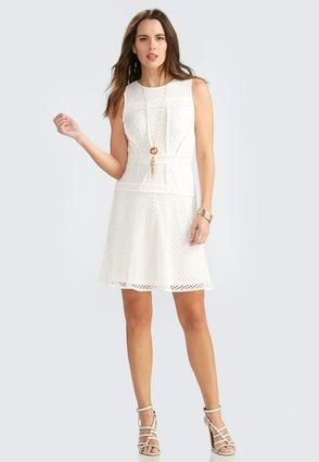 Cato Fashions Mixed Media Fit And Flare Dress Fashion Pinterest