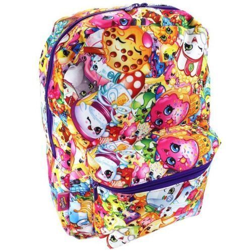 Shopkins 16 Inch Large School Backpack Book Bag All Over Print