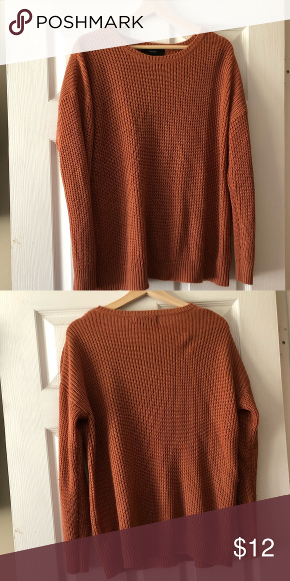 63725eb5167f9f Forever 21 Sweaters Crew & Scoop Necks. Find this Pin and more on My Posh  Closet by Amanda Jepson. Knit Sweater Worn once- great condition Orange/Rust  color ...