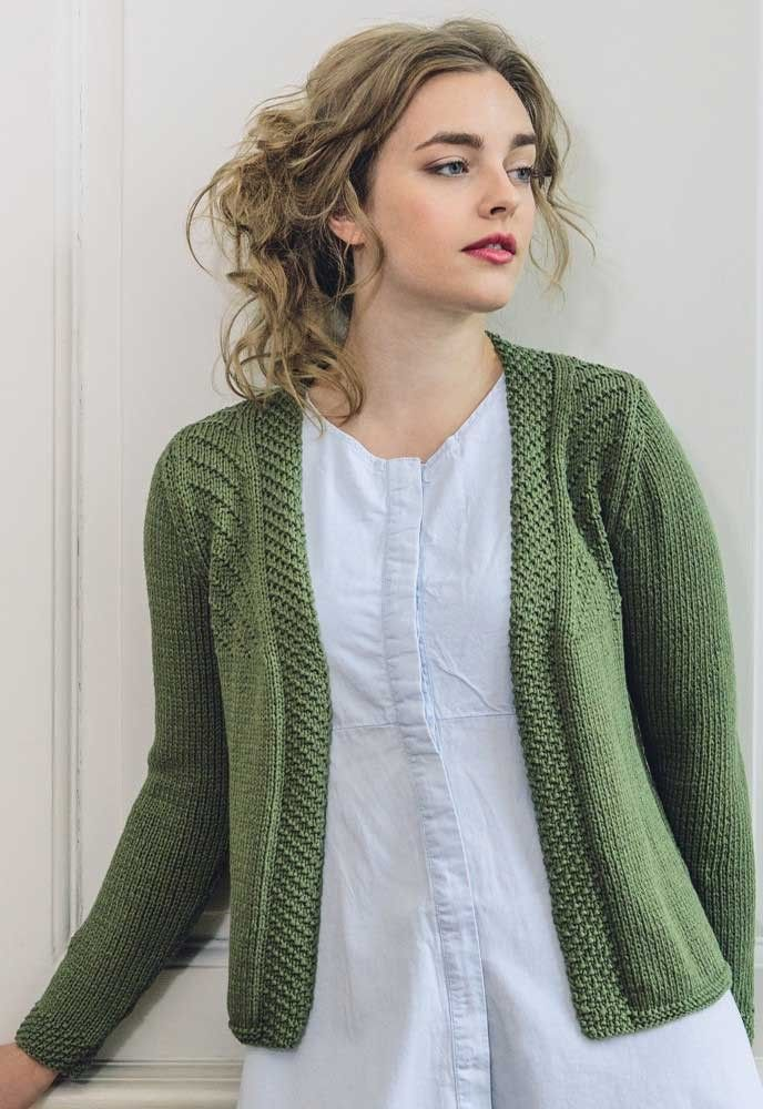 Ladies Cardigan In Rowan Cotton Lustre Knitting Pinterest