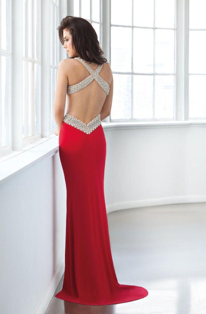 Jersey fabric, red prom dress. Eleni Elias 2017. | Blossoms Prom ...