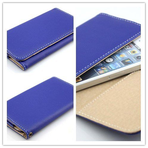 awesome Big Dragonfly Superior Ultra Slim Portable Cell Phone Leather Pouch & Sleeve for Apple Iphone 5 iPhone 4 4s Samsung Galaxy S4 S3 S2 with ID Card Slots for Women (At&t, Verizon, T-Mobile & Sprint) Blue