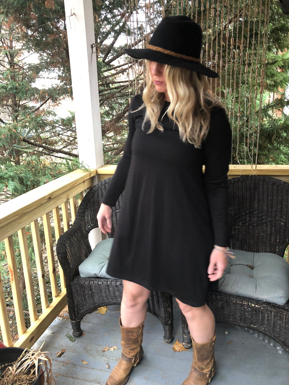 Vintage 70s Black Mini Dress Etsy Mini Black Dress Casual Dress Outfits Blue Maxi Dress Outfit [ 3000 x 2250 Pixel ]