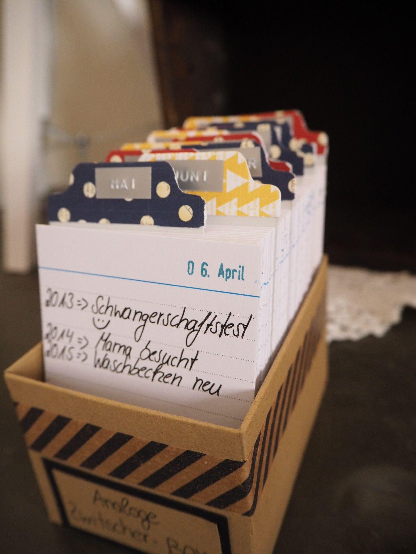 analoge zwitscher box kalender diy journaling tips. Black Bedroom Furniture Sets. Home Design Ideas