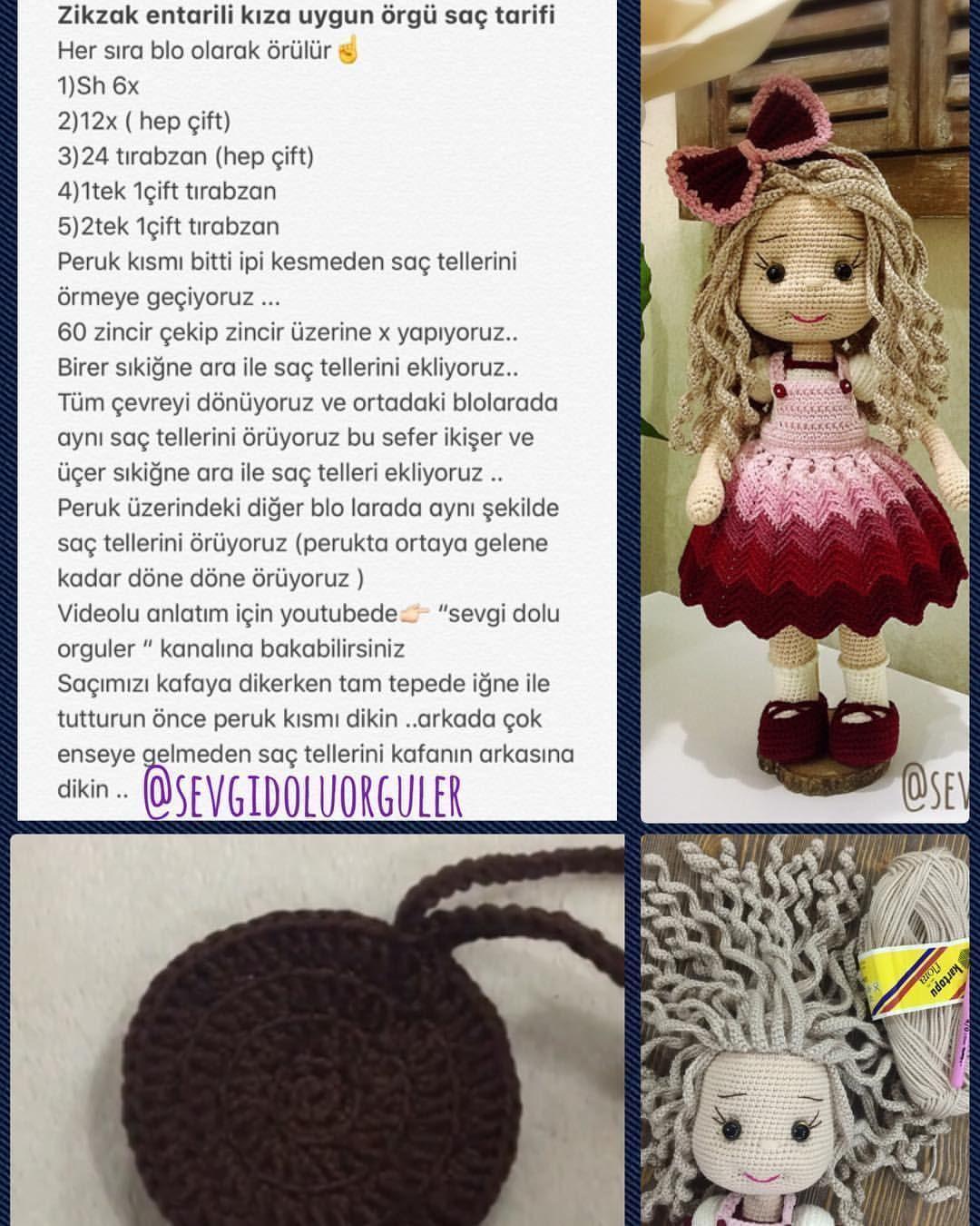 Boneca de Croche Cabelo Cacheado | Elo7 | 1350x1080