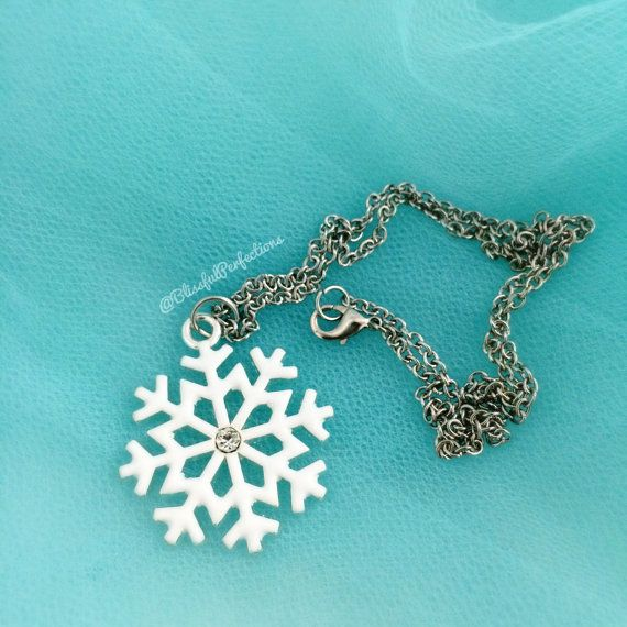 Disney Frozen Snowflake Necklace Elsa by BlissfulPerfections
