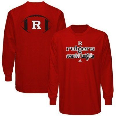 NCAA adidas Rutgers Scarlet Knights Backfield Long Sleeve T-Shirt - Scarlet by adidas. $17.99. Rib-knit collar & cuffs. 100% Cotton. Lightweight ribbed long sleeve shirt. Screen print graphics. adidas Rutgers Scarlet Knights Backfield Long Sleeve T-Shirt - Scarlet