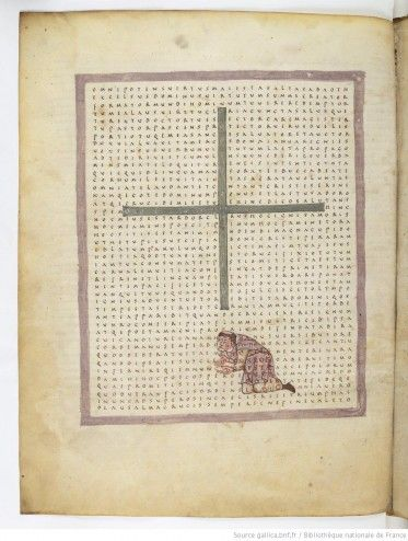 De Laudibus Sanctae Crucis, par Raban Maur, vers 831BnF, ms. lat. 2423 f°66