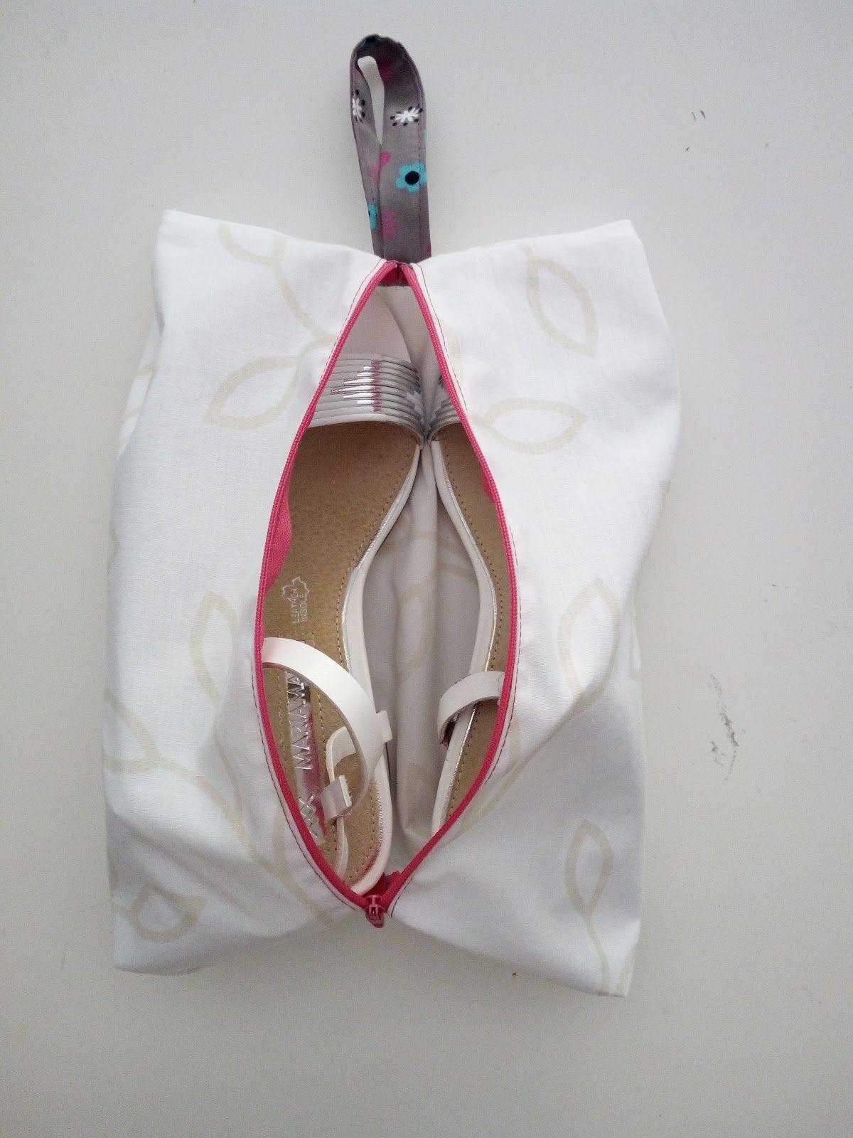 Cómo hacer una bolsa guarda-zapatos para tus viajes. Mini-tutorial ...
