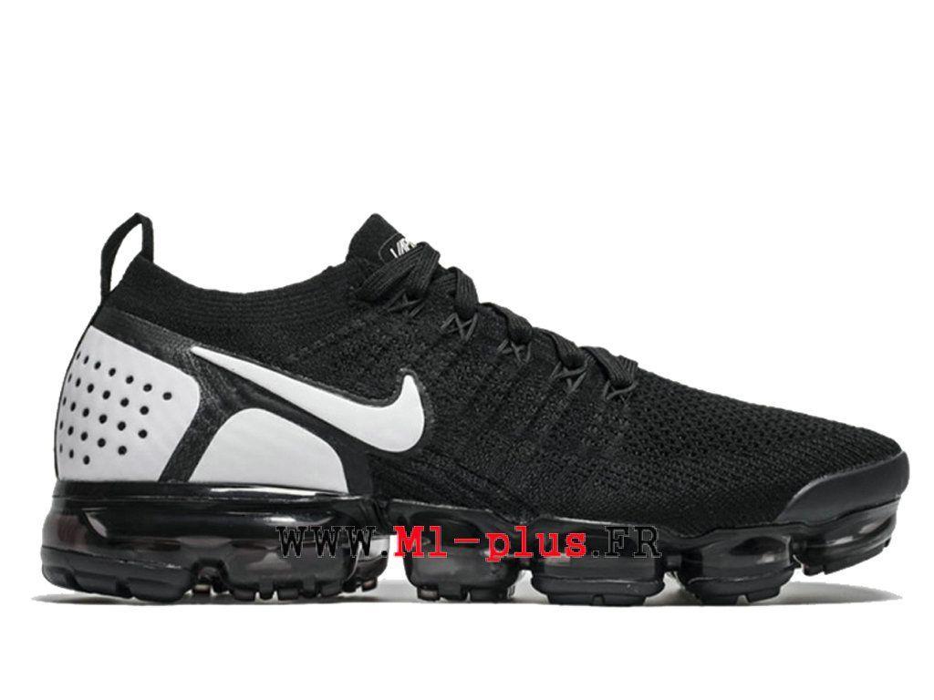 check out 91d7a b86ec Nike Air Vapormax Flyknit 2.0 Chaussures 2018 Pas Cher Pour Homme Noir Blanc  942842-010