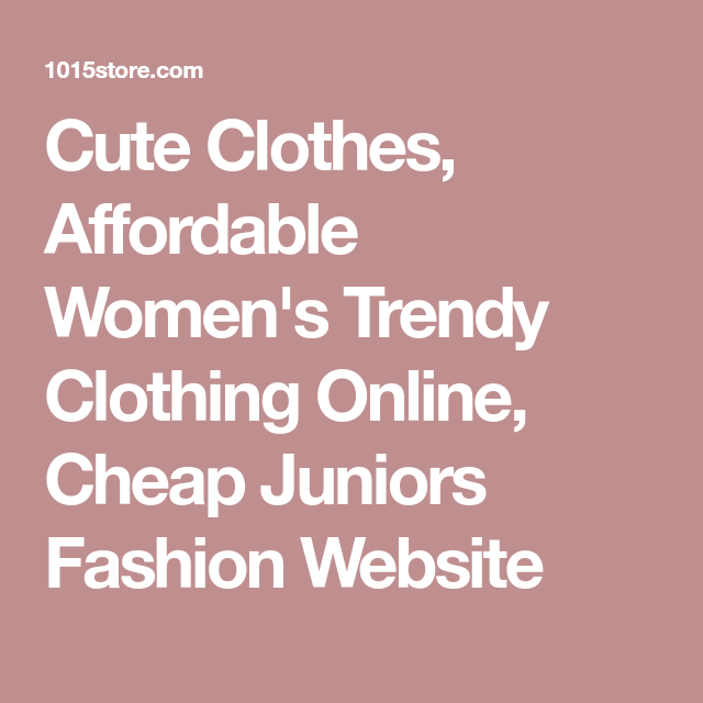 Shopping Teen clothing online