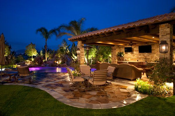 Backyard Living Ideas diy backyard covered patio ideas with flagstone and swimming pool