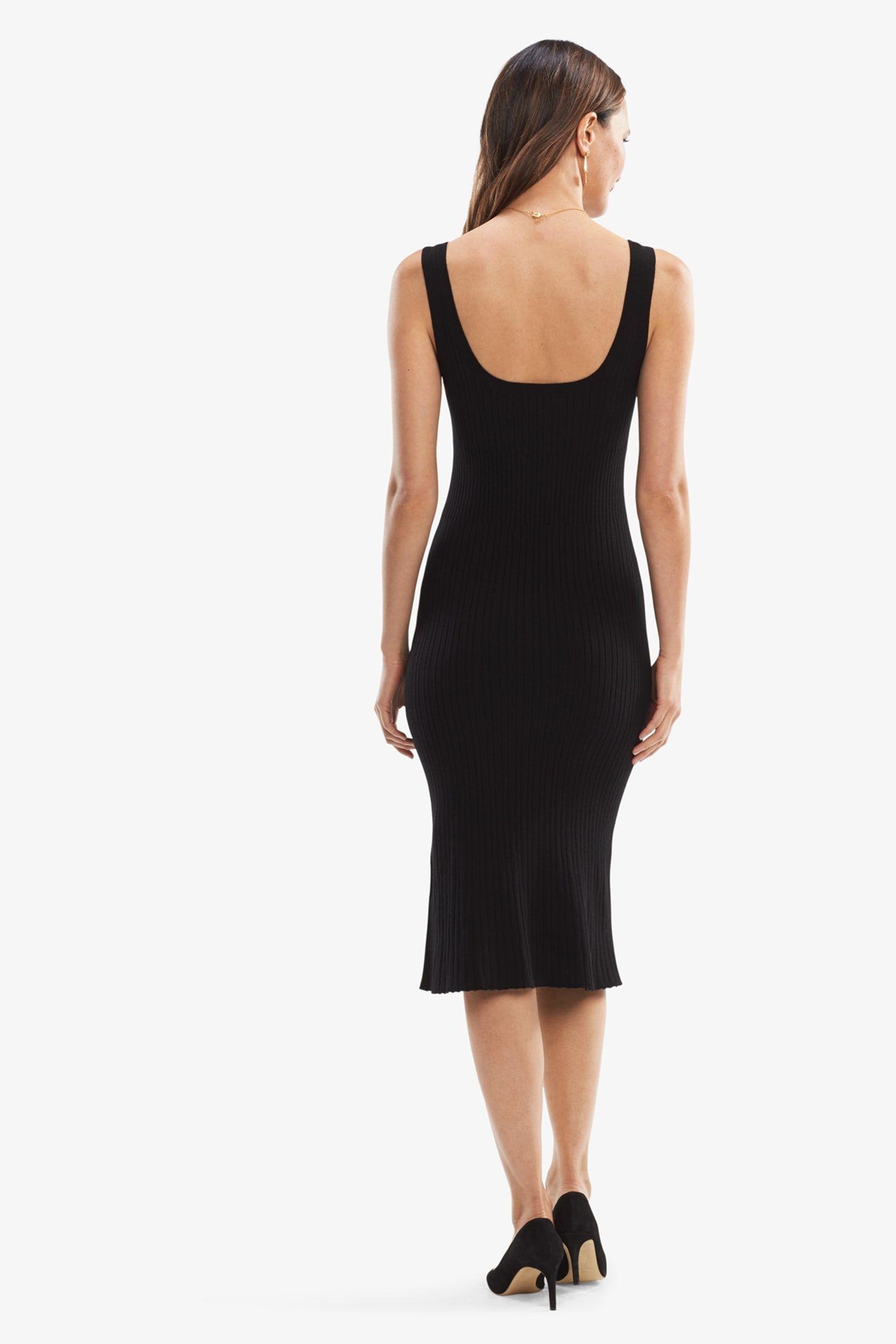 Dinner fancy dress black forecast dress in autumn in 2019