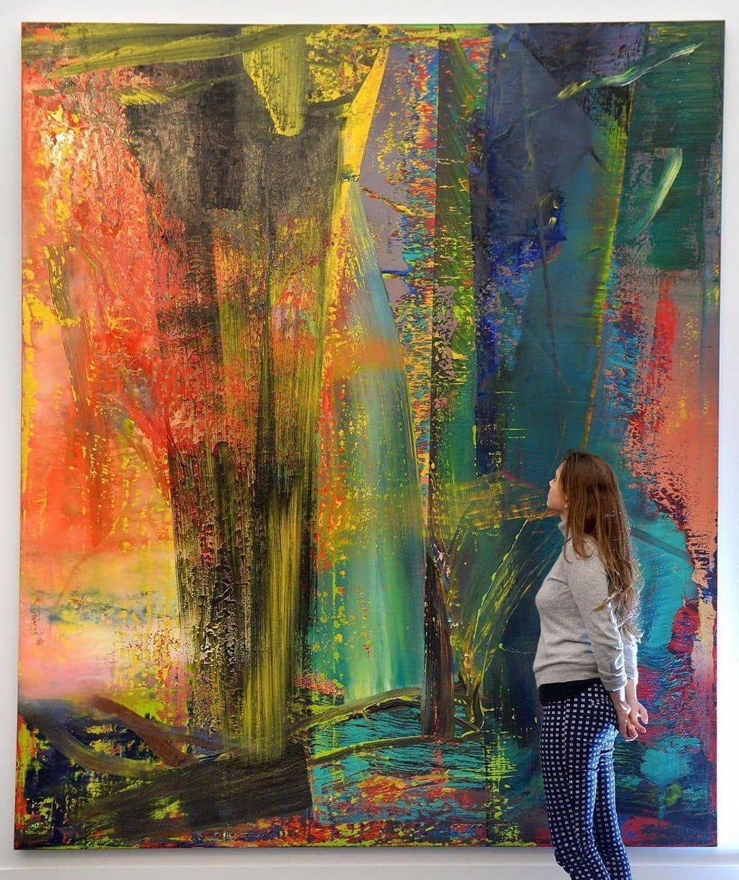 Abstract art on instagram gerhard richter gerhard