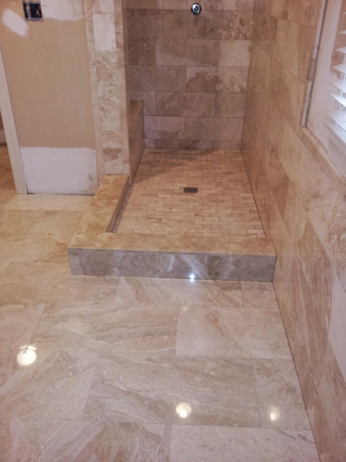 Beautiful Installing Ceramic Tile With Classy Zocalo Marmol Kali Tile Floor  And Wall For Luxury Shower Space Bathroom Ceramic Tile Installat. Part 65