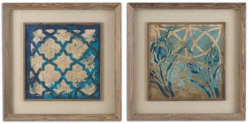 DecRenew: Grace Feyock 41512 Stained Glass Indigo Transitional Wall ...