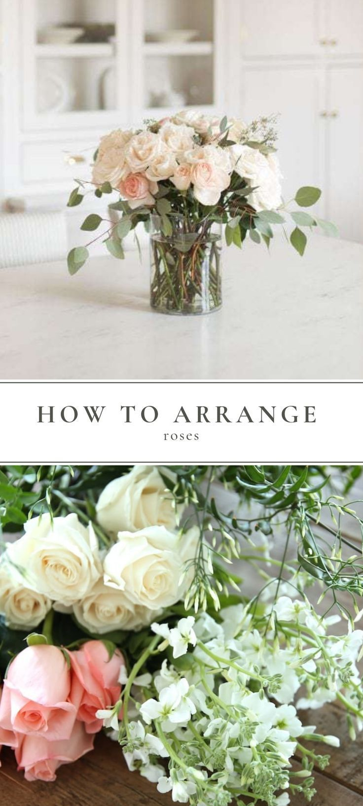 An easy tutorial to learn how to arrange roses and