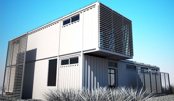 Technology Management Image: Shipping Container House Stacked Home House Made With