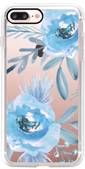 sports shoes 30af7 a319a Classic Grip iPhone 7 Plus Case - Blue flowers. Watercolor | Floral ...