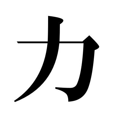 Kanji Symbol For Strength This Symbol Is Tattooed On My Back
