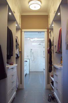 Walk Through Closet To Bath Closet Remodel Bathroom Closet