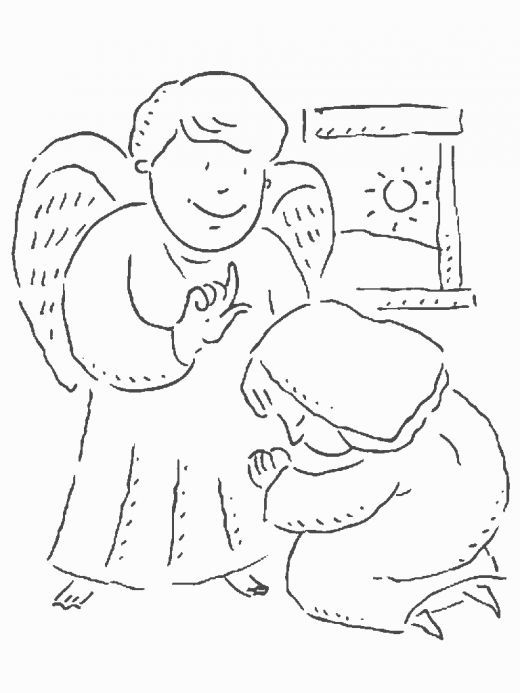 It's just a graphic of Zany Angel Appears To Mary Coloring Page