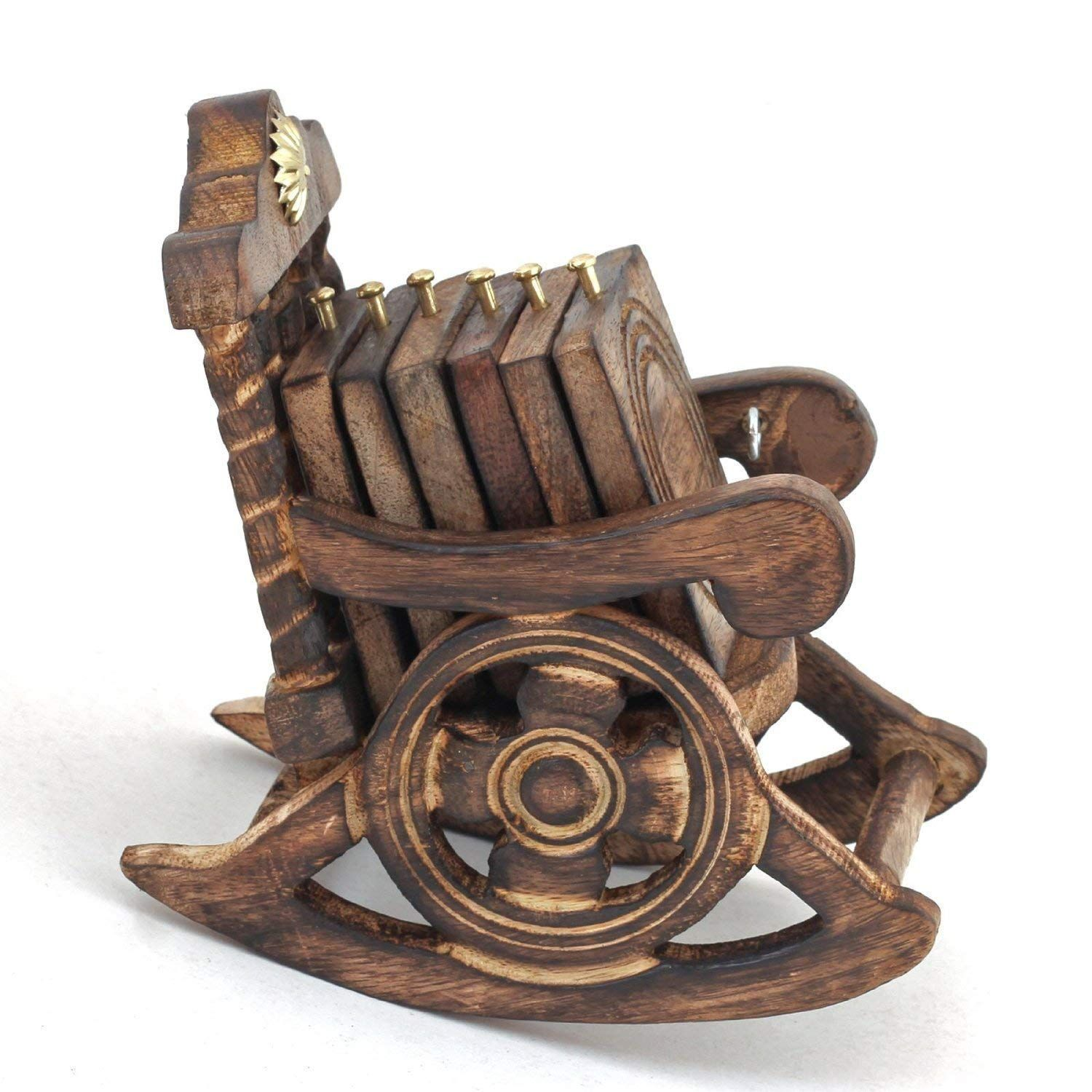 Ekam Art Rocking Chair Kitchen & Dining Wooden Tea Coaster