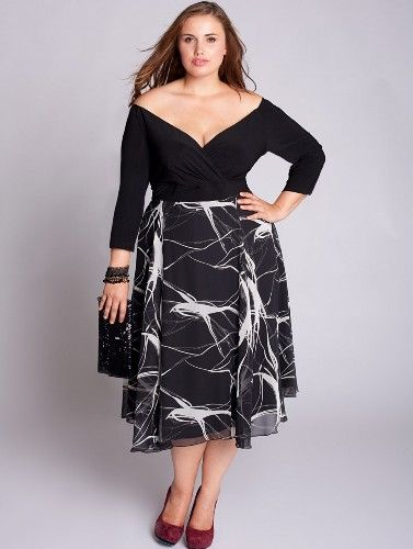 Semi casual plus size dresses
