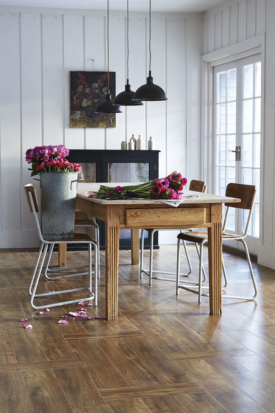 LVT Wood Effect Flooring With A Matching Wooden Dining Table Get Your Here