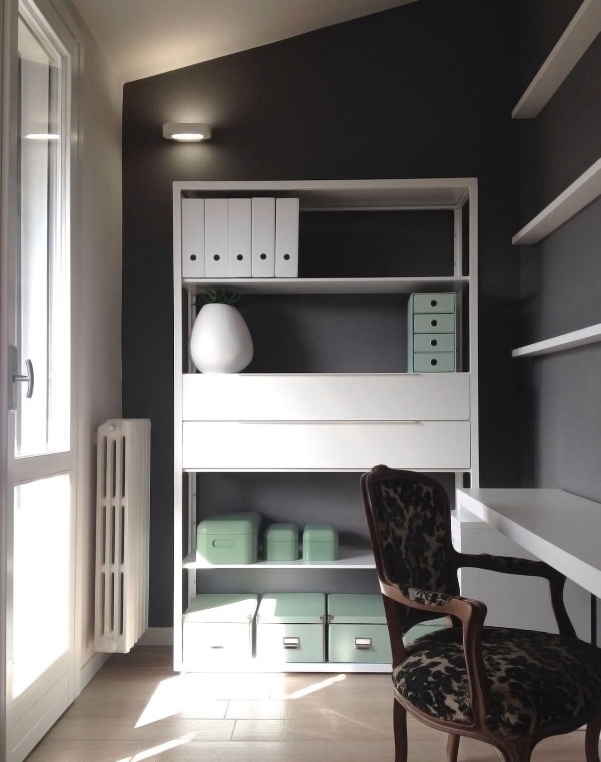 "Submitted""Detailsofus"" "" Our Small Work Space White Gray And Fascinating Living Room Design For Small Spaces Design Ideas"