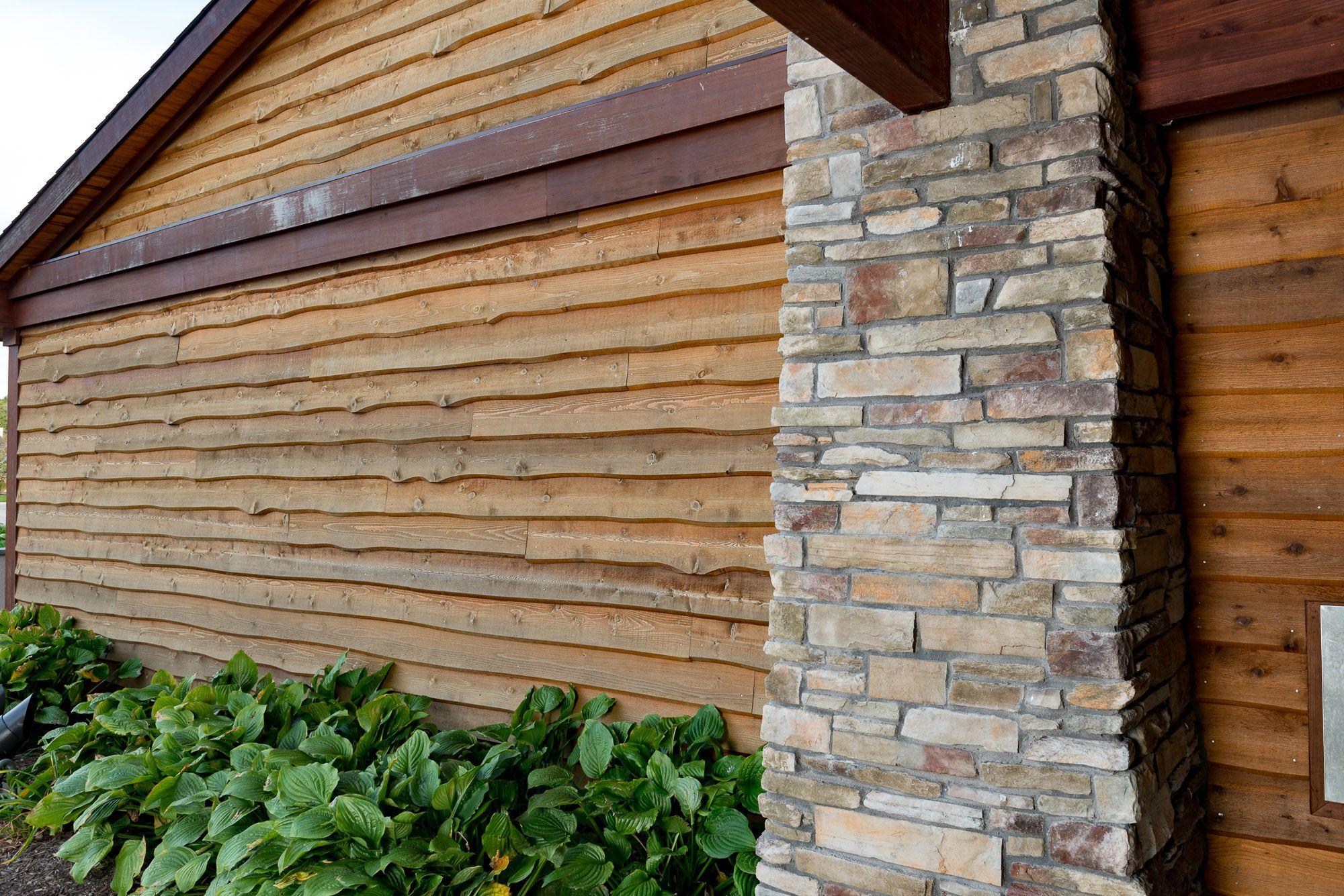 Park Center Wrapped In Our Wavy Edge Bevel Cedar Siding In 2020 Patio Art Cedar Siding Cedar Lumber
