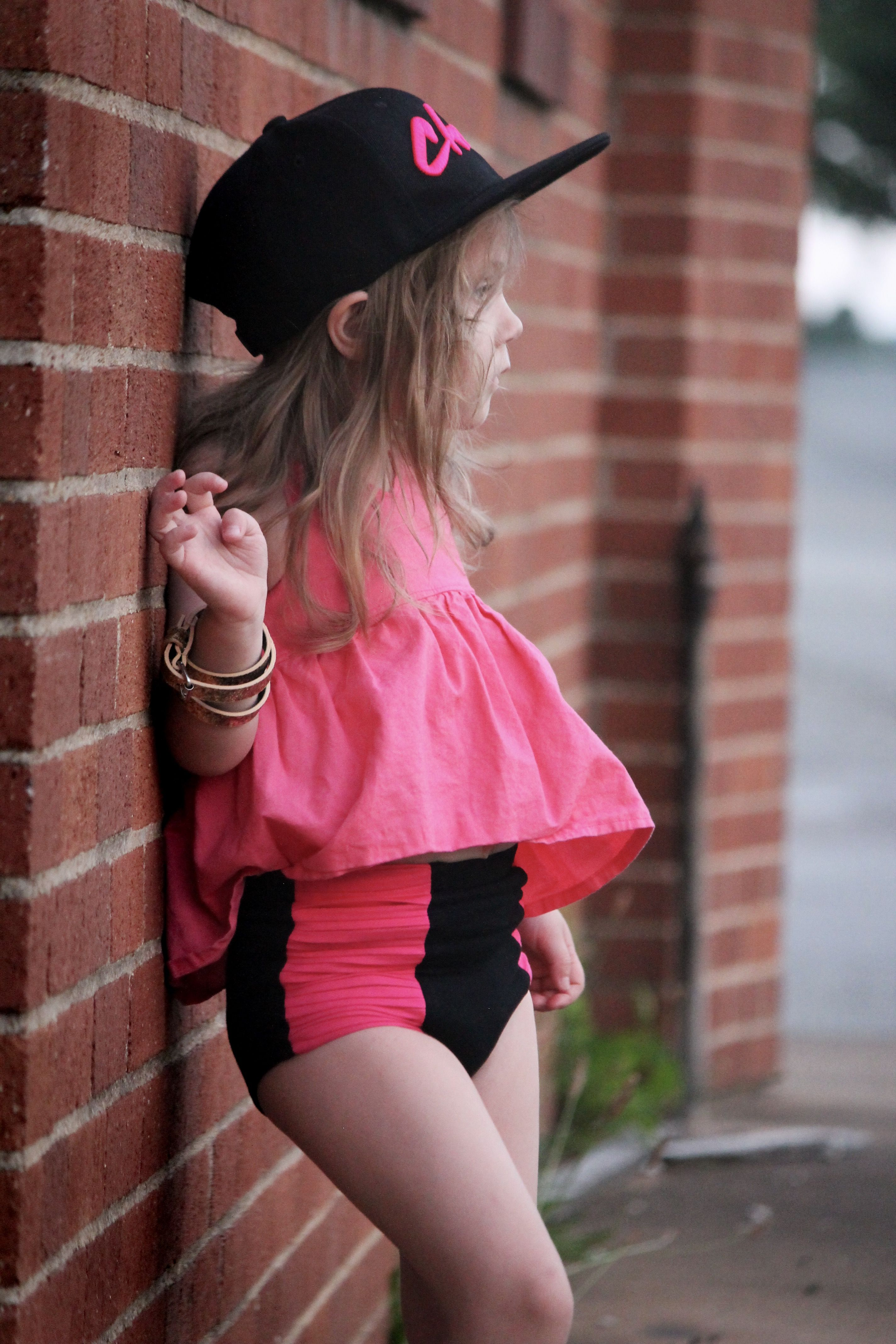 Hot pink black moto high waisted bloomies kids pinterest