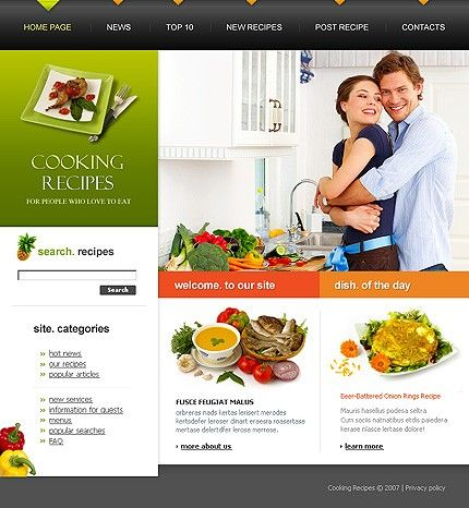 Template 17053 cooking recipes website template cooking and website template 17053 cooking forumfinder Images
