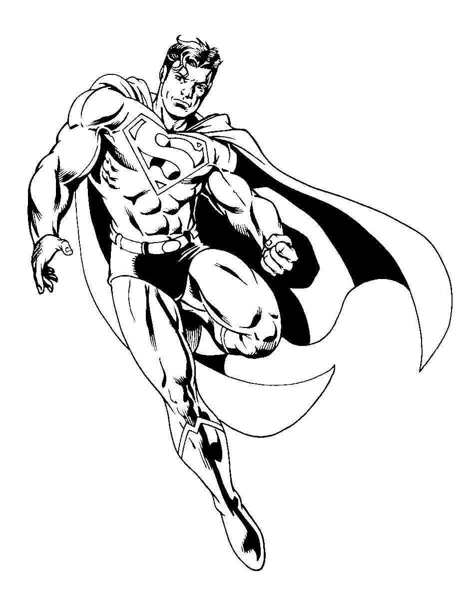 Superman Coloring Pages (Görüntüler ile)