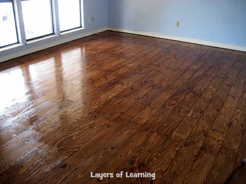 Ordinaire We Installed Real Wood Floors Made From Plywood In Our Living Room, See  What We