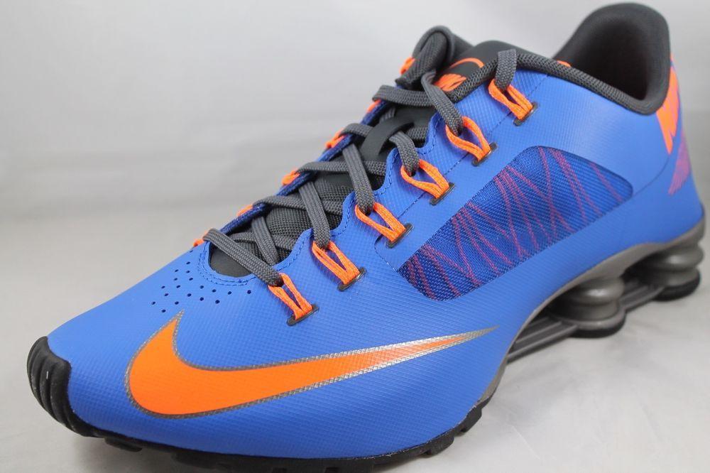 online store 45695 02d6c Nike Shox Superfly R4 Men s Blue Orange Florida Running Shoes 653480-400 Sz  10