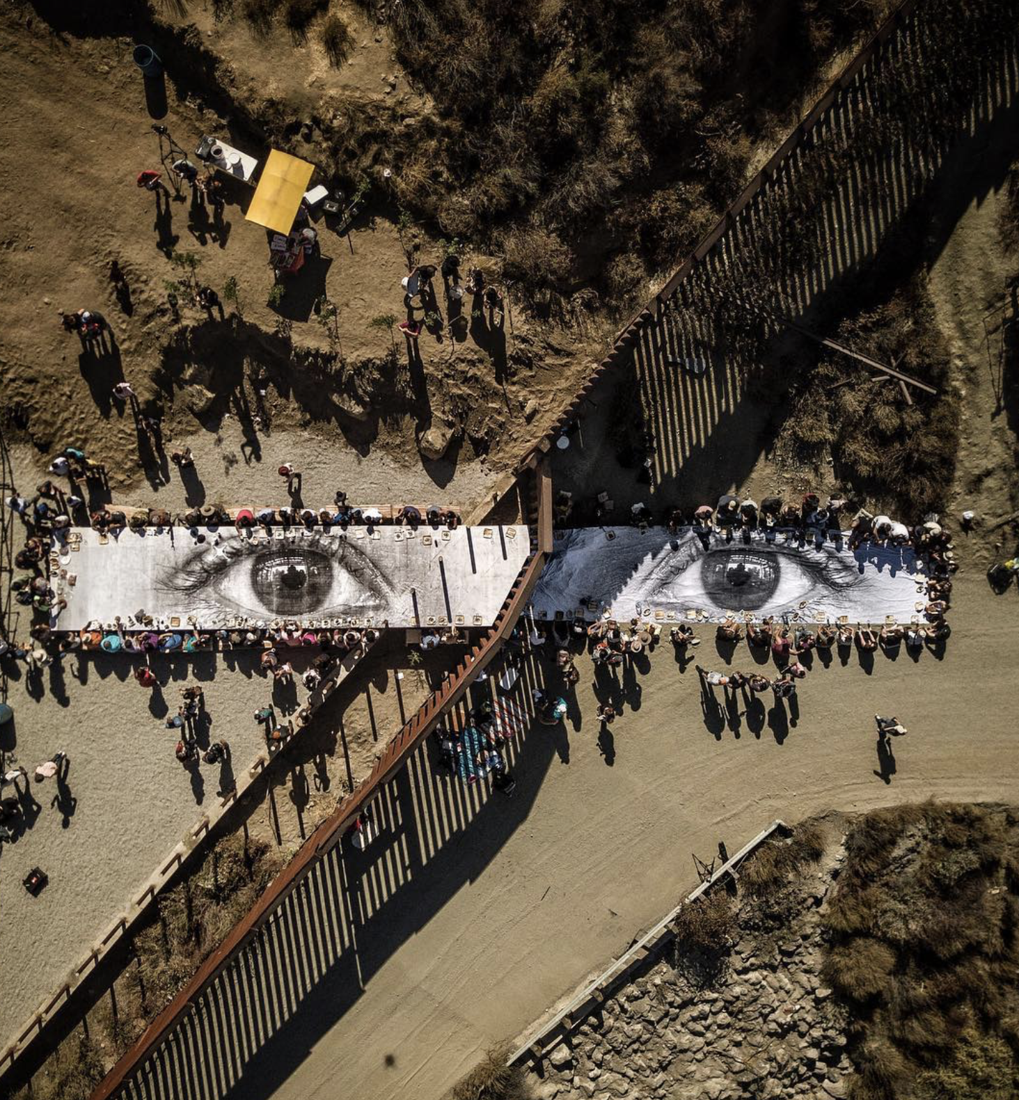 Street Artist JR Ends Mexico Border Installation with