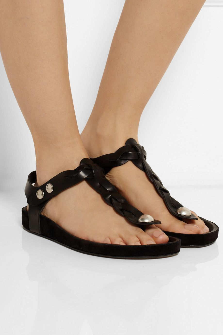 free shipping geniue stockist buy cheap cheapest price Isabel Marant Leather Braided Sandals free shipping 100% guaranteed for sale 2014 cheap sale factory outlet ChuS9Yx