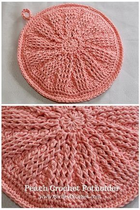 Peach crochet potholder free crochet pattern easy beginners peach crochet potholder free crochet pattern easy beginners pattern dt1010fo