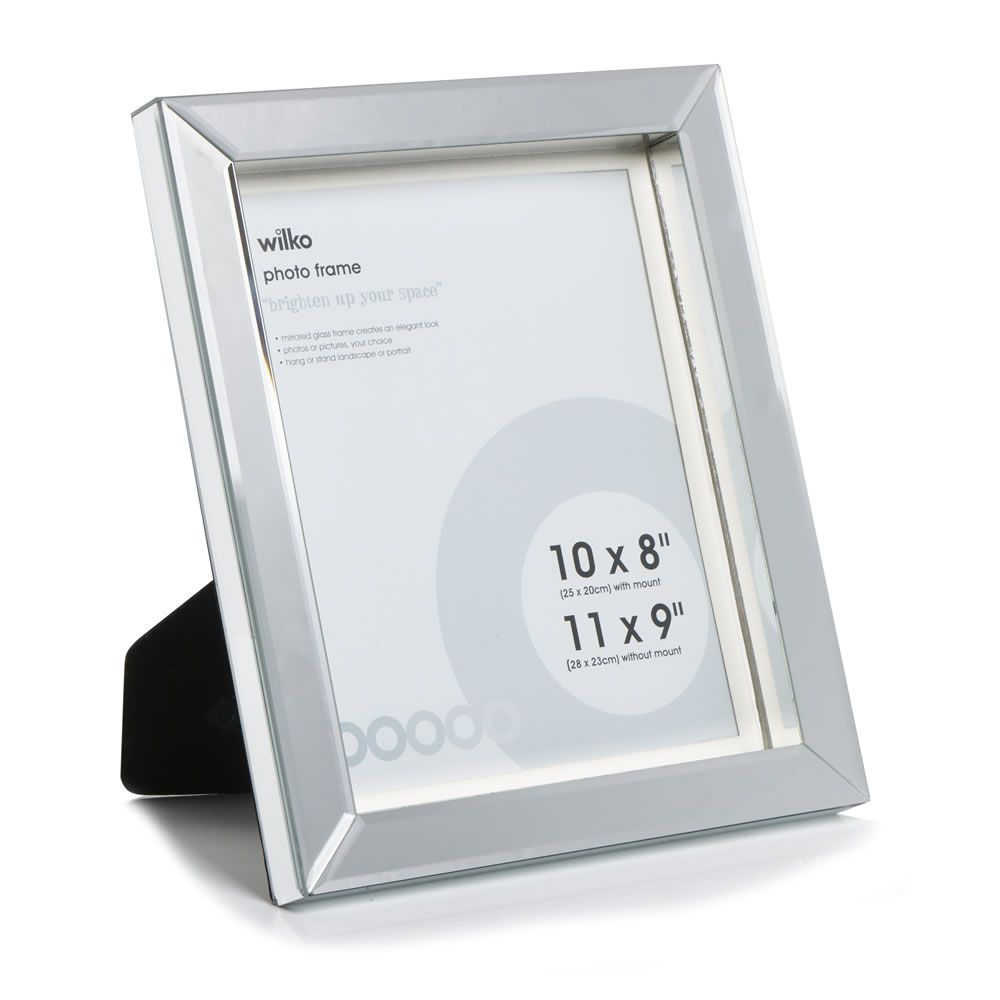 Wilko Block Mirror Photo Frame 10in x 8in | Things to buy for the ...