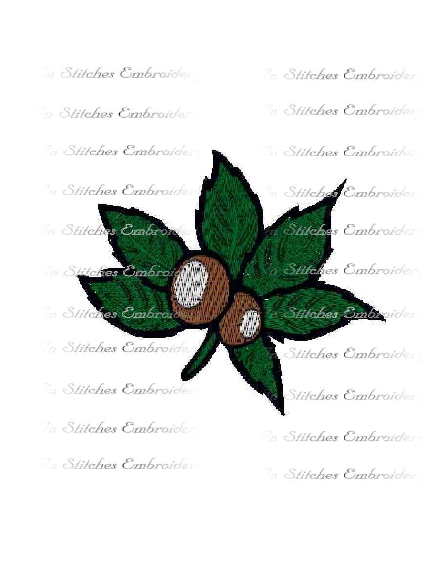 Buckeye Leaf Embroidery Design State Of By