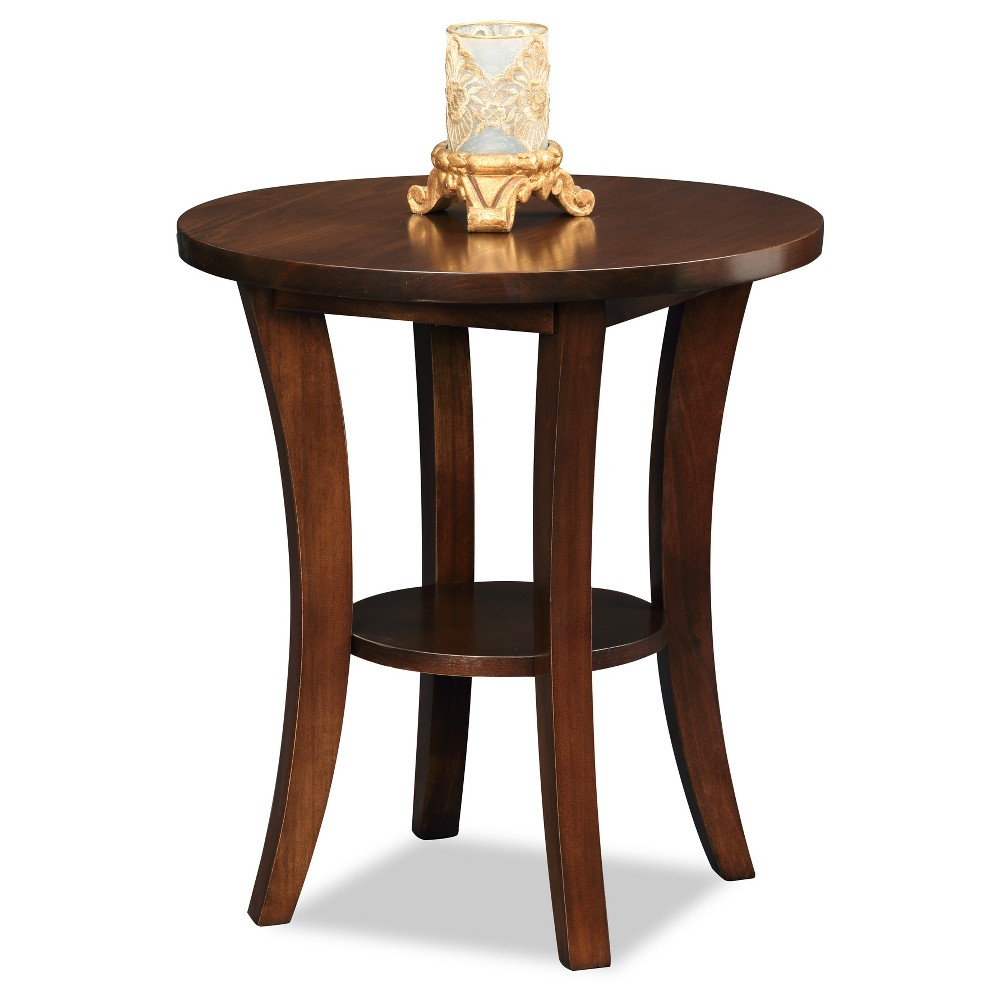 Boa Round Side Table Chocolate Cherry Leick Home