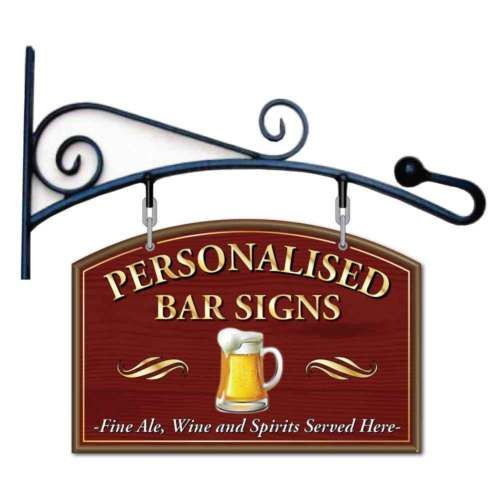 Home Bar Signs: Pub Hanging Sign, Hanging Home Bar Sign, Outdoor
