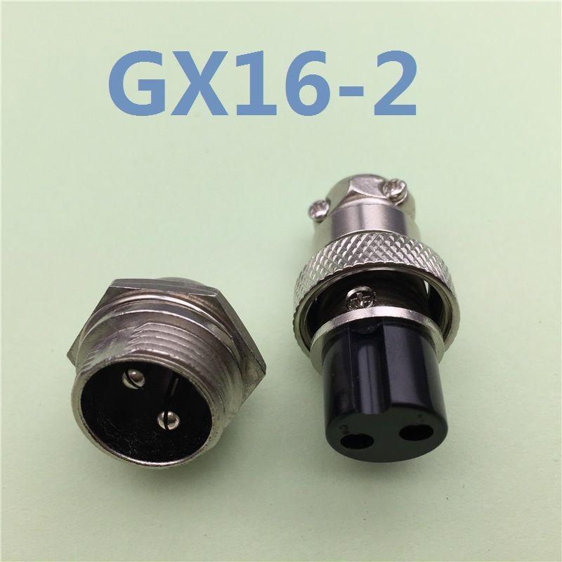1 대 GX16 2 핀 남성 및 여성 직경 16 미리메터 와이어 패널 커넥터 L70 GX16 원형 커넥터 항공 소켓 플러그 무료 배송