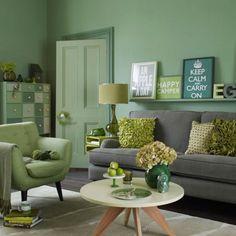 wohnideen wohnzimmer-ein ruhiges gefühl durch die farbe grün ... - Wohnideen Wohnzimmer Grun