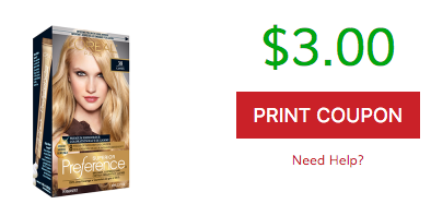 image relating to Loreal Printable Coupon named Help you save $3 off LOreal Better Decision Hair Color