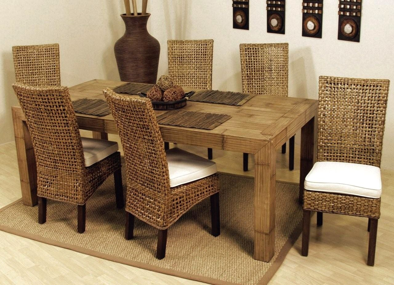 Room Dining Room Set Wicker Chairs