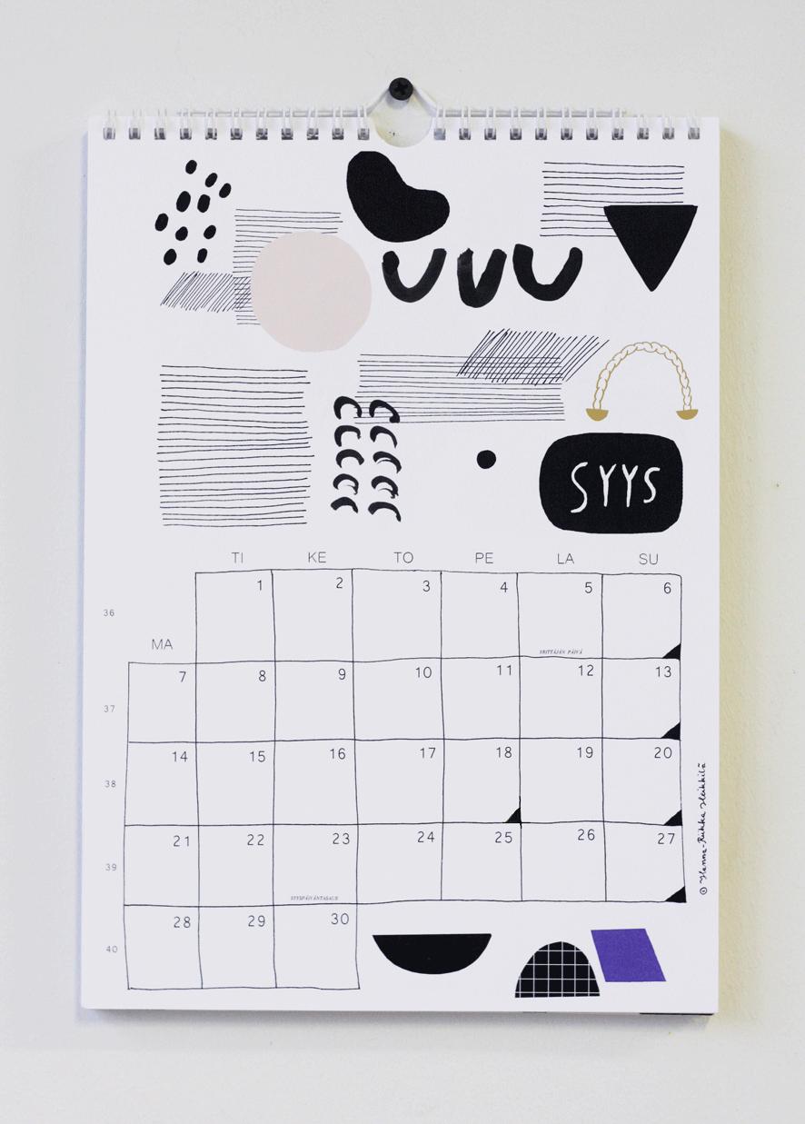 Kanelikauppa: seinäkalenteri