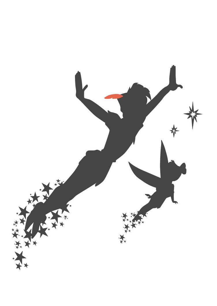 how to draw tinkerbell silhouette
