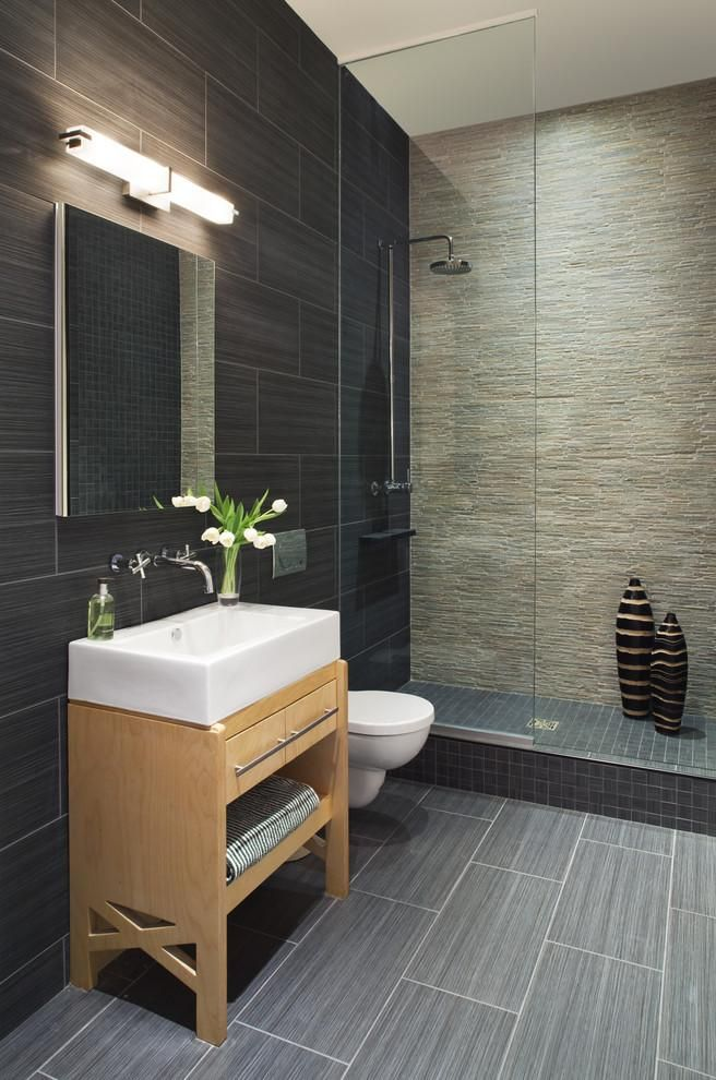 Tile Bathroom, Black And Elegant Home Depot Wall Tile In